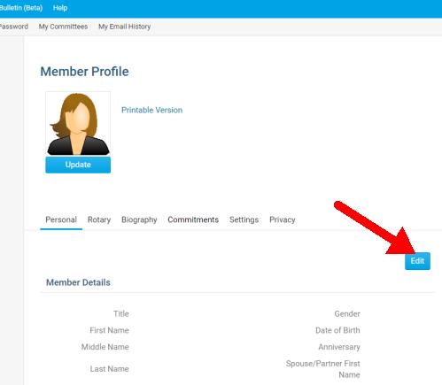 Member Profile screenshot