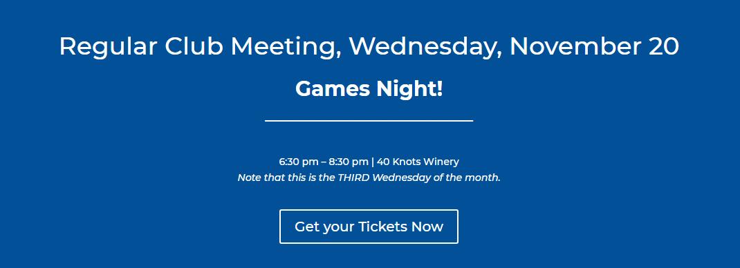 General Meeting: Wednesday, November 20