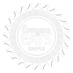 Everyone Eats Raffle logo white